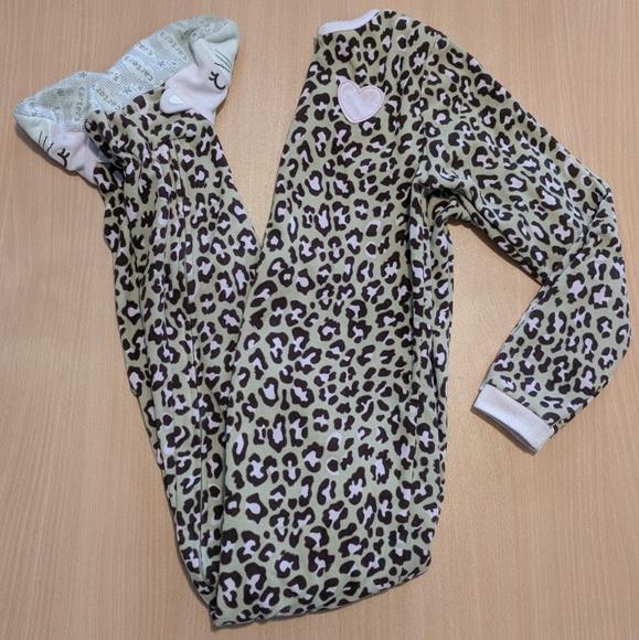 Carter's Other - Leopard print cat pajamas